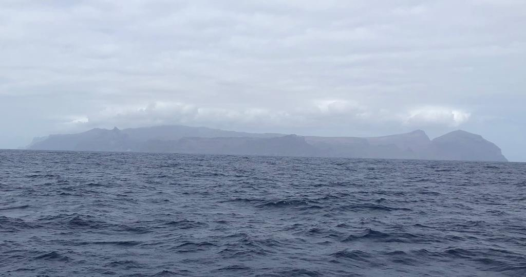 First sight of St. Helena