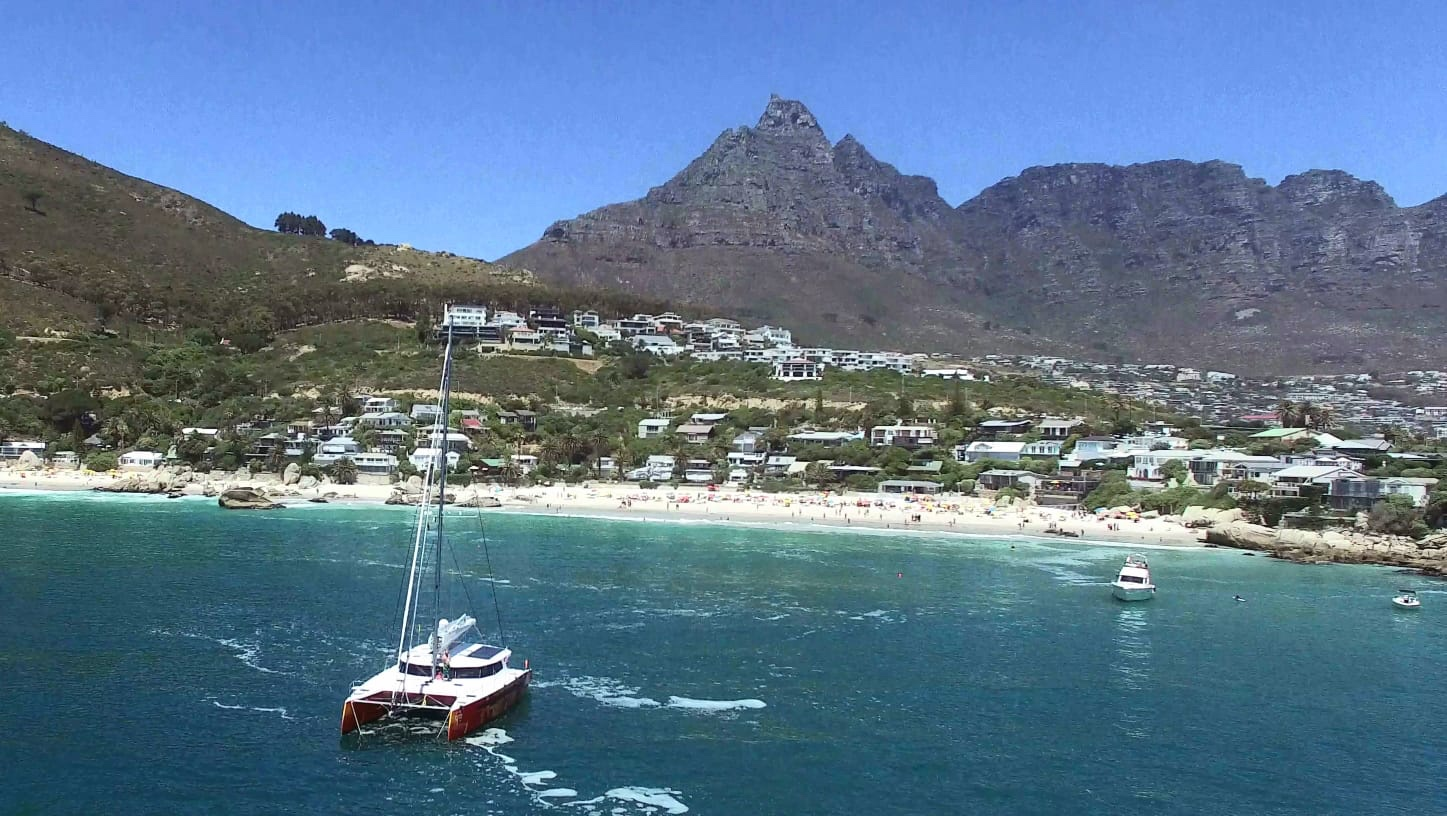 Lunch While Anchored at Clifton Beach