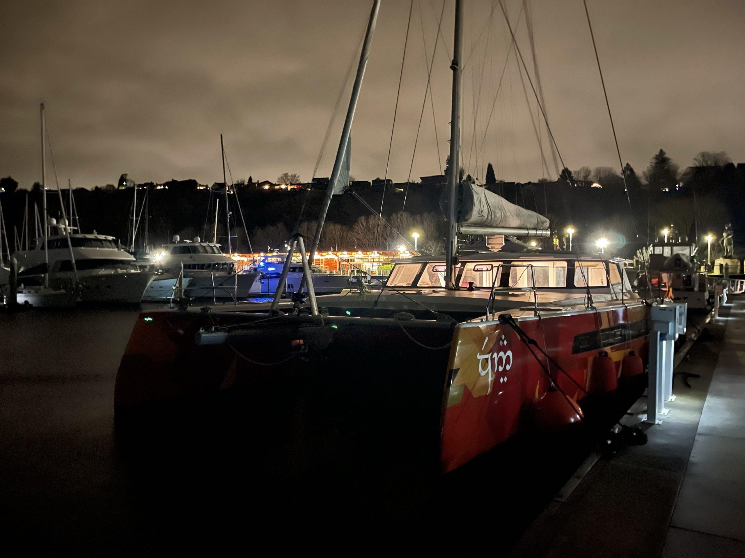 Vingilótë and her crew made it to Shilshole marina safe and sound