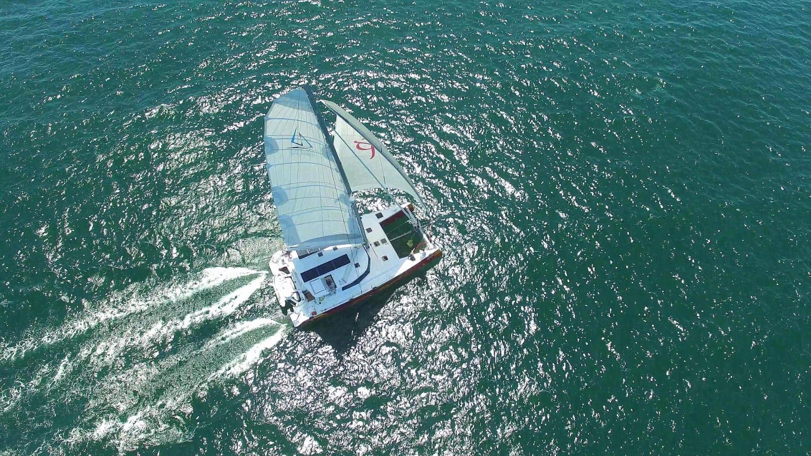 More photos of Vingilótë under sail