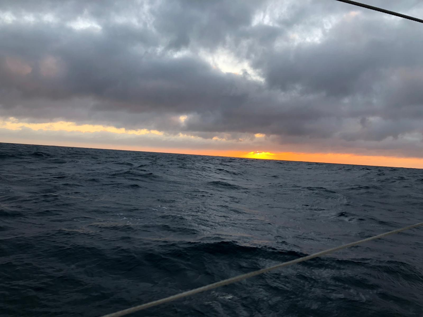 Sunset on day 1 of the crossing