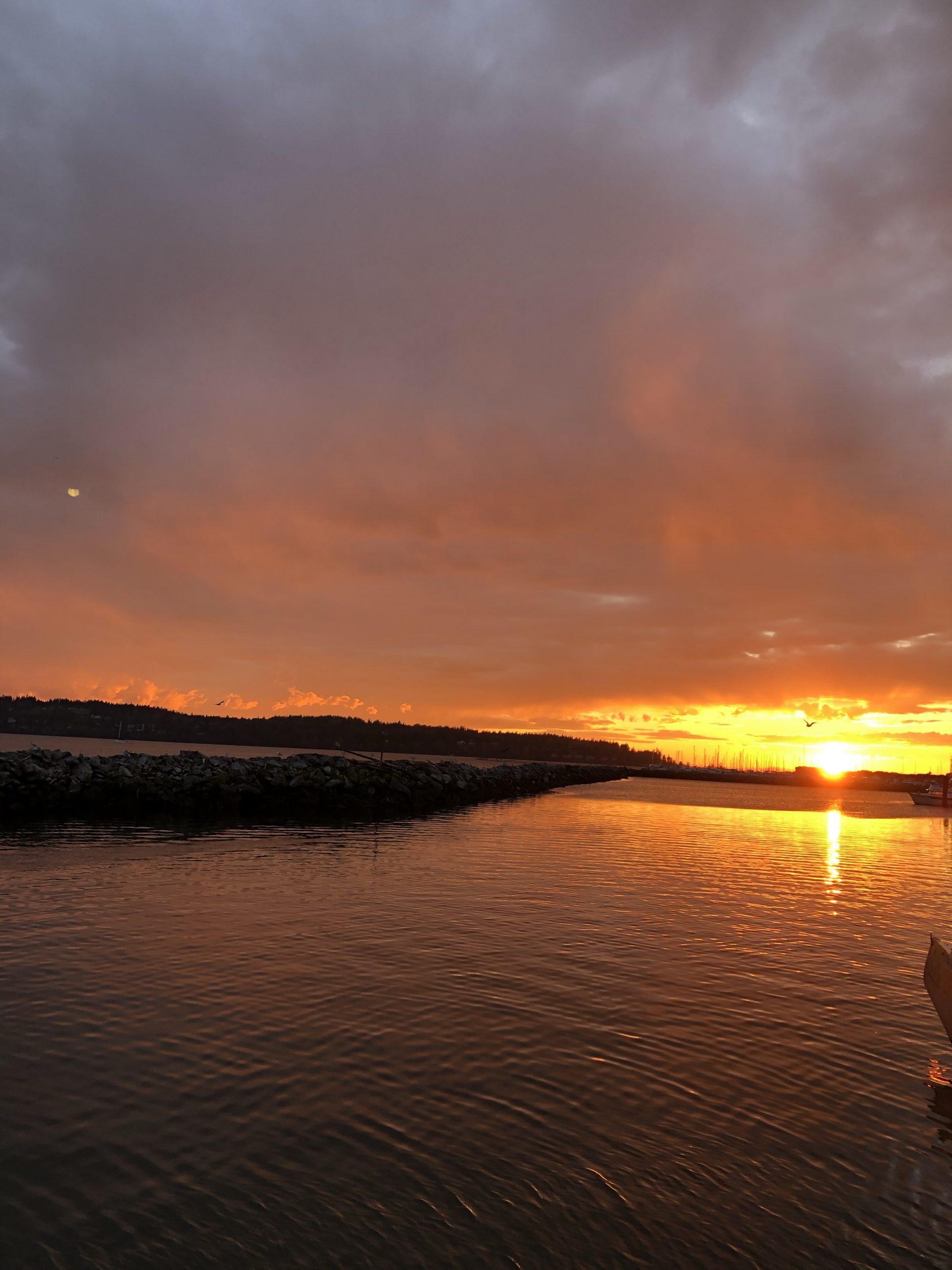 Sunset over Blaine