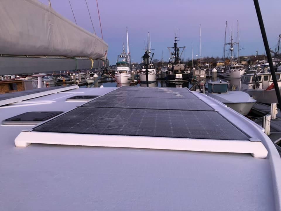 Frozen docking lines