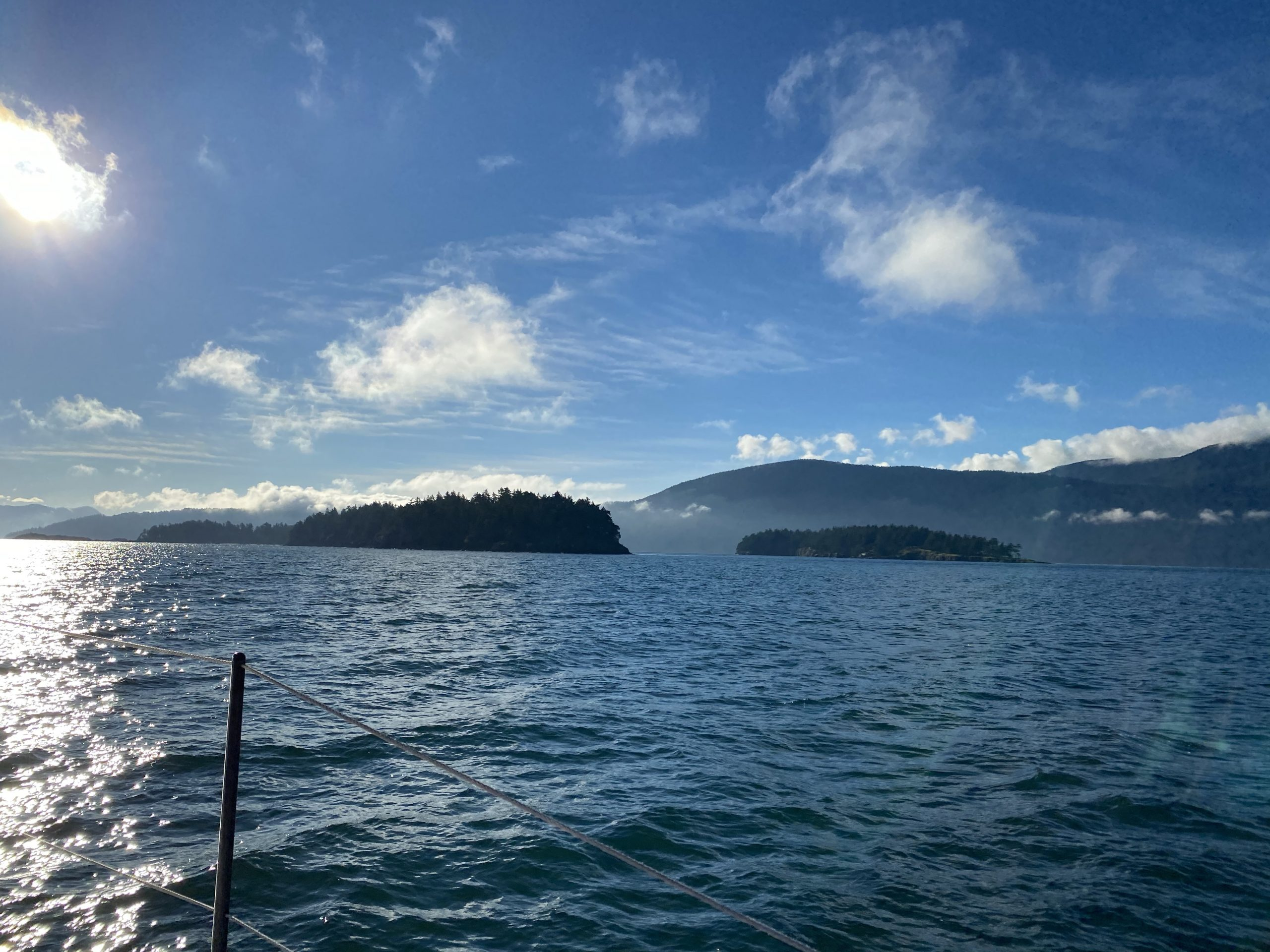 Orcas Island, the Barnes islands, and the Sisters