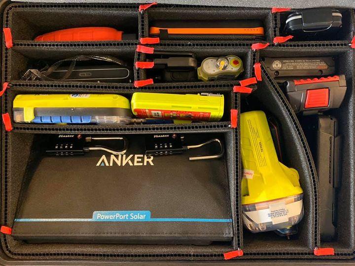 A Pelican Case of Emergency Equipment