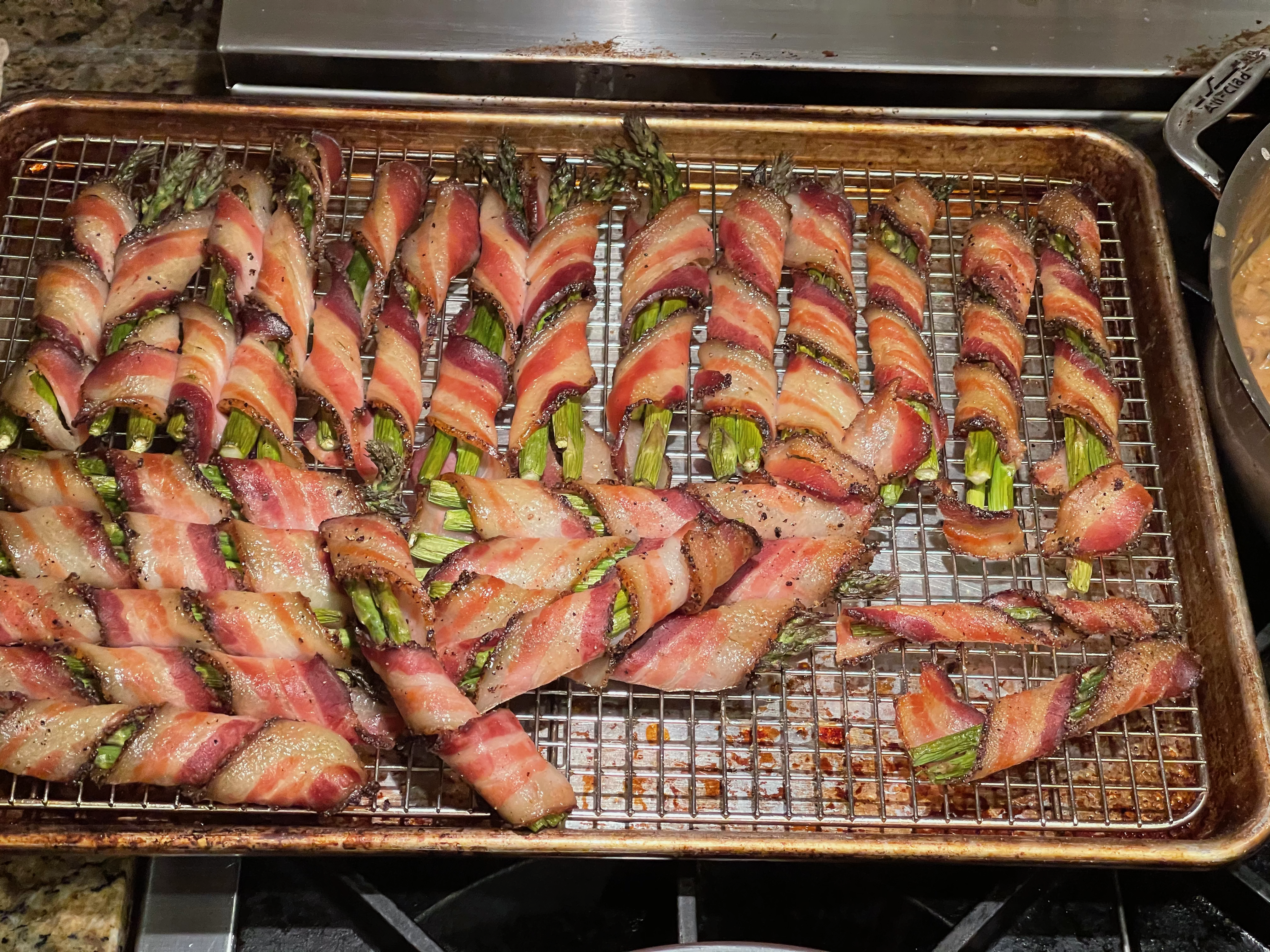 (Smoked) Bacon-wrapped Asparagus