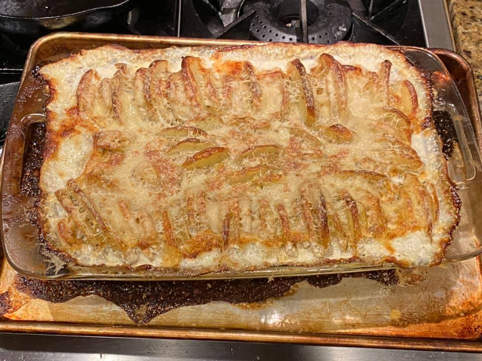 """The """"Potaties Hasselbeck au Gratin"""" come out to let the Bee"""