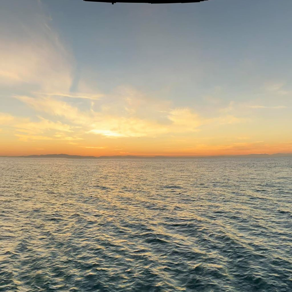 180 degree taken on the port side to the sun just after it set