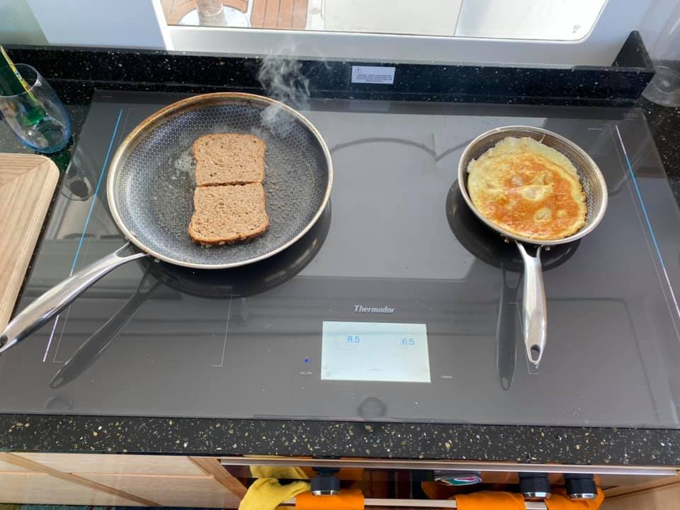 The new stove on the boat…