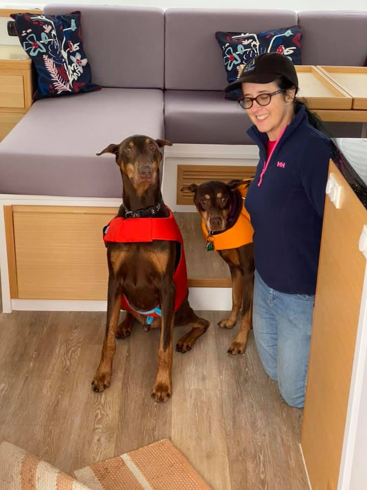 Dobers on board and in their life vests