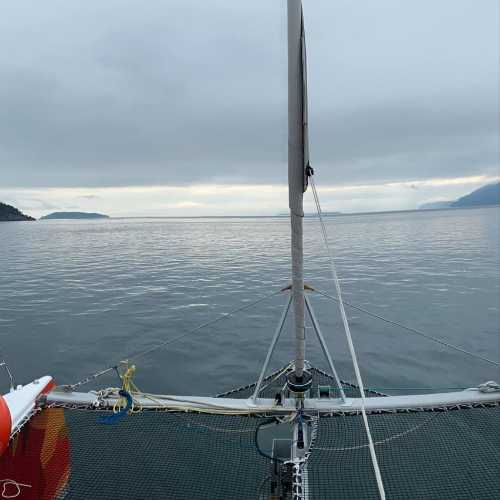 Rounding the South of Sucia Island