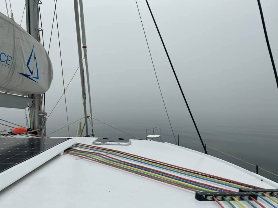 It's possible that calling it ten boat lengths visibility i