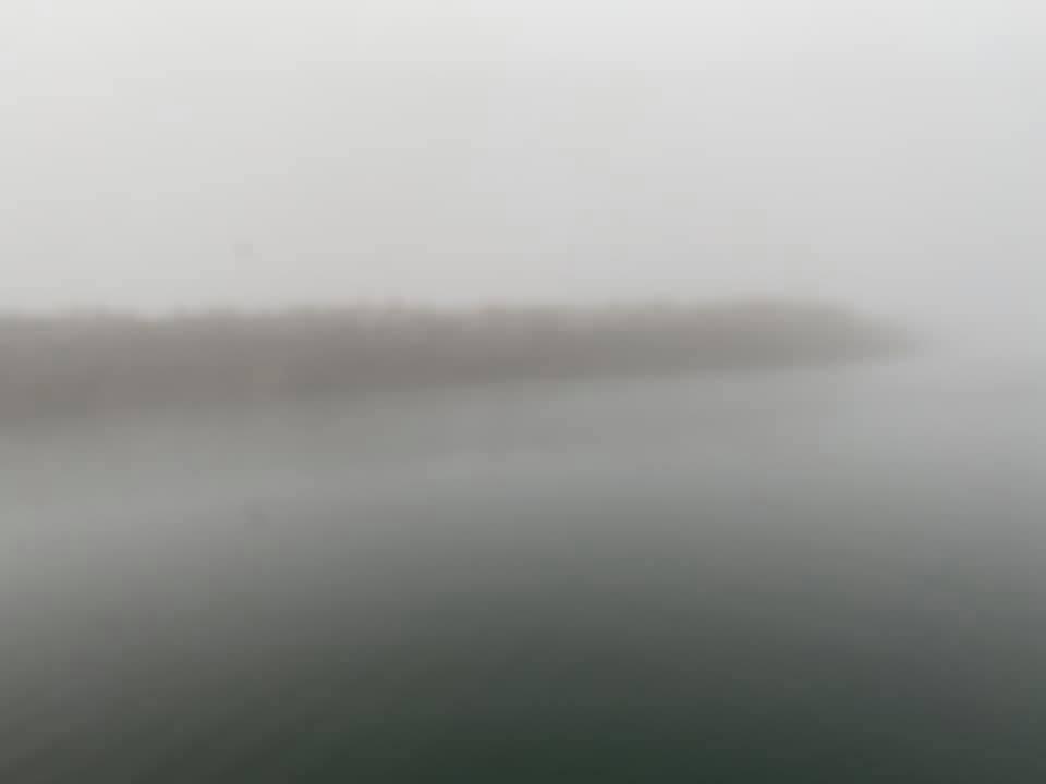 It's a bit foggy: that is the breakwater…