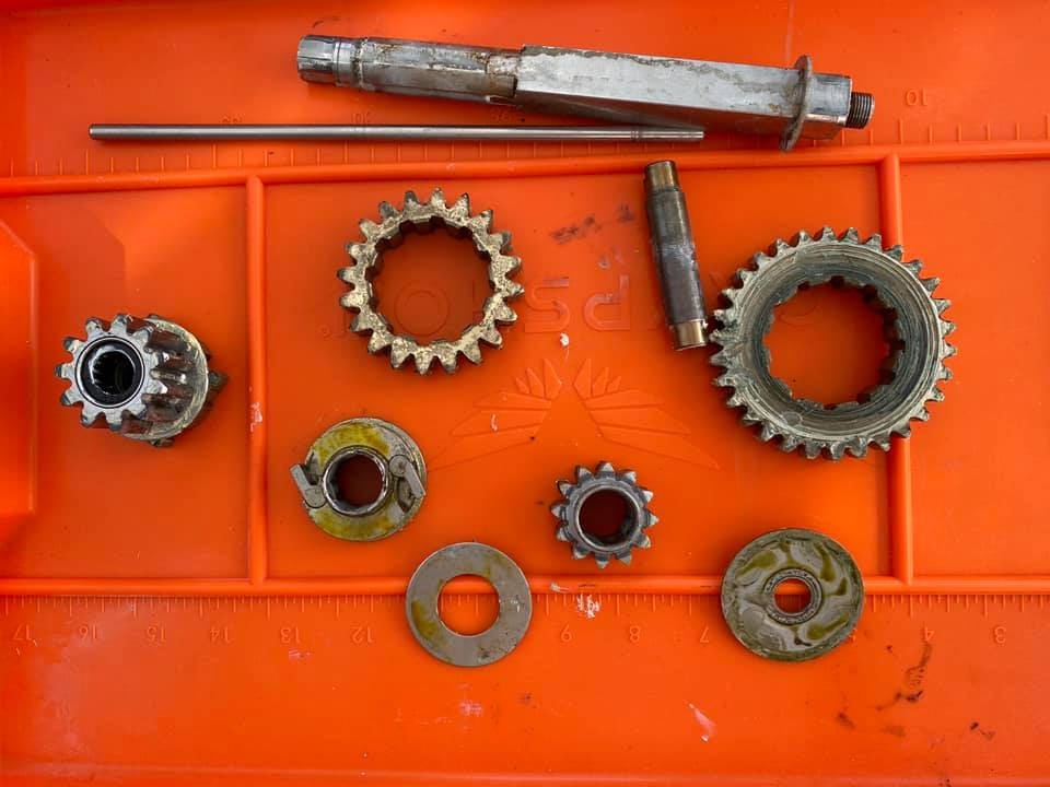 Before and after on the main gears…