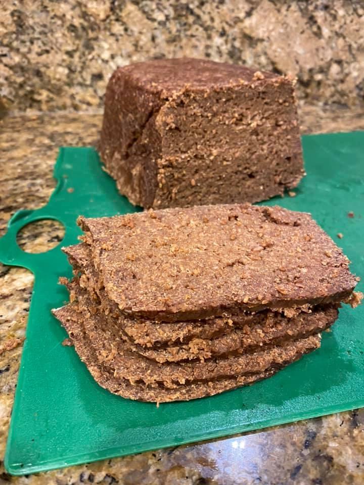 Rye bread take two. Larger glass pan…