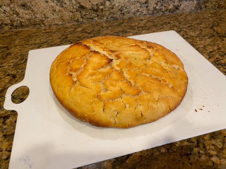No-knead sourdough. Great taste…