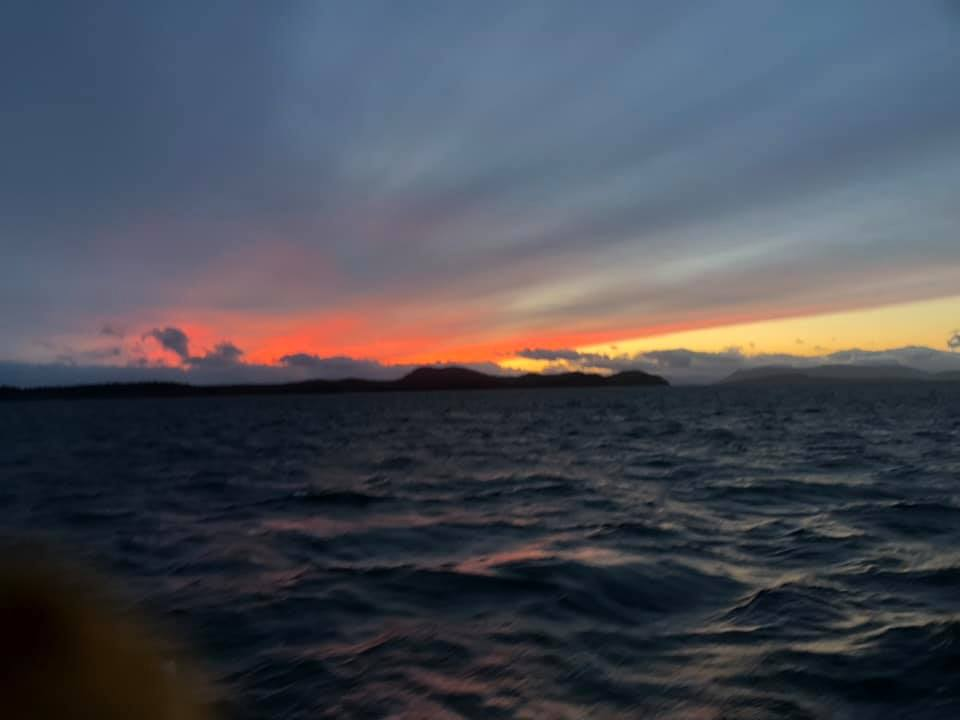 Last night crossing the strait to Canada…