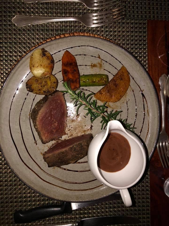 Dinner tonight. Rare kudu filet…