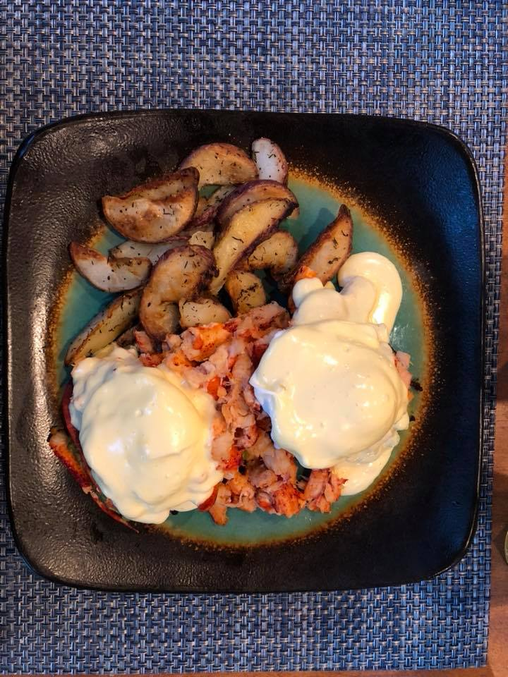 Hey Marc MacYoung: Eggs Benedict with lobster for breakfast ..