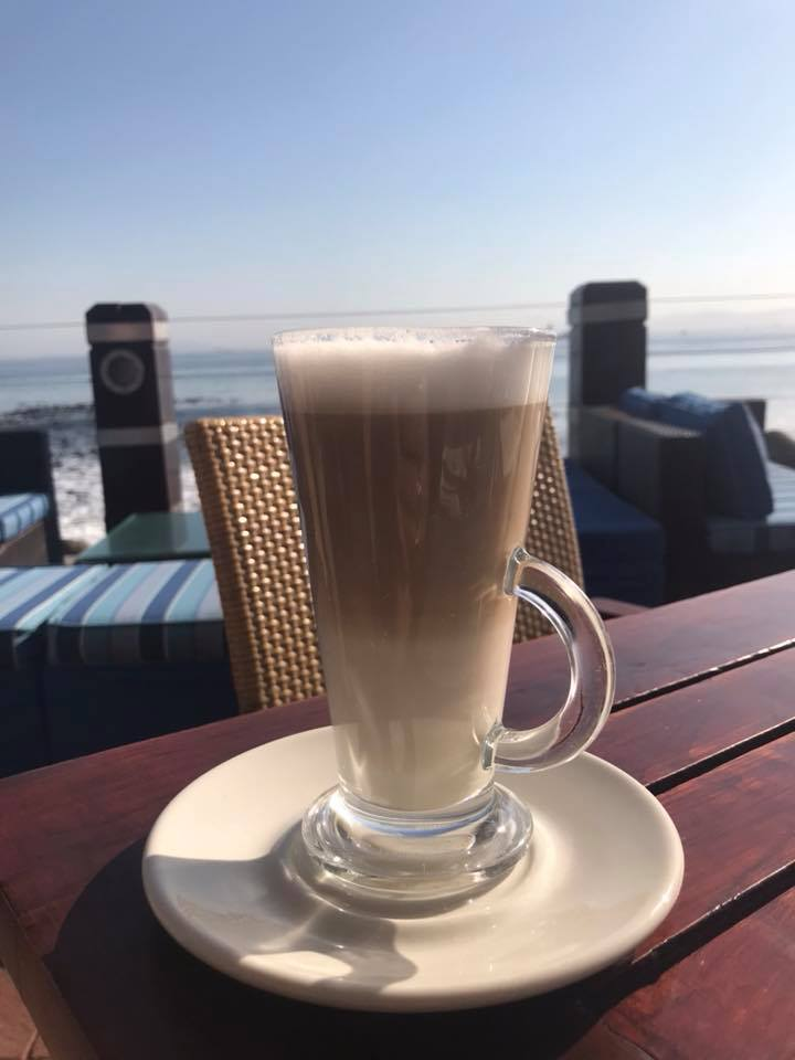 They do a lovely latte too here at the hotel
