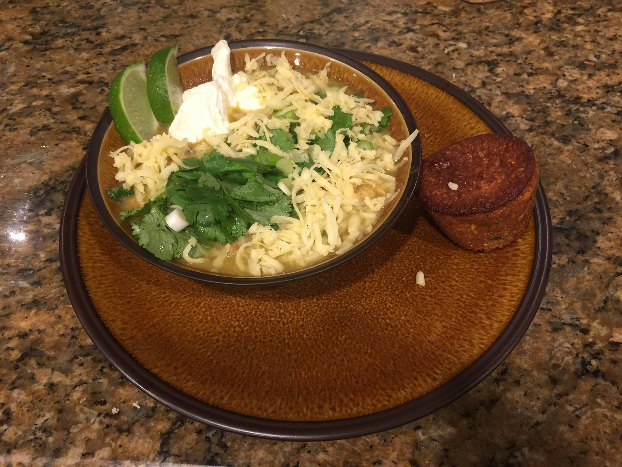 Turkey leftovers.  A white chili…