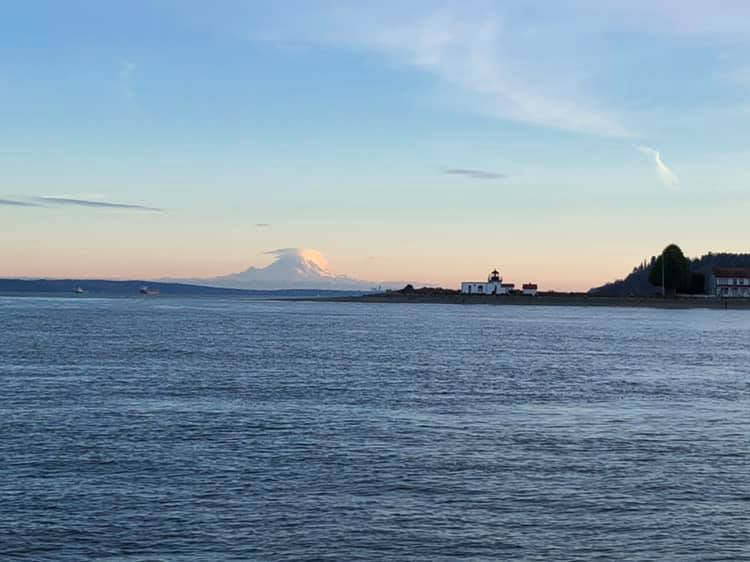 Point No Point, in front of Mt Rainier