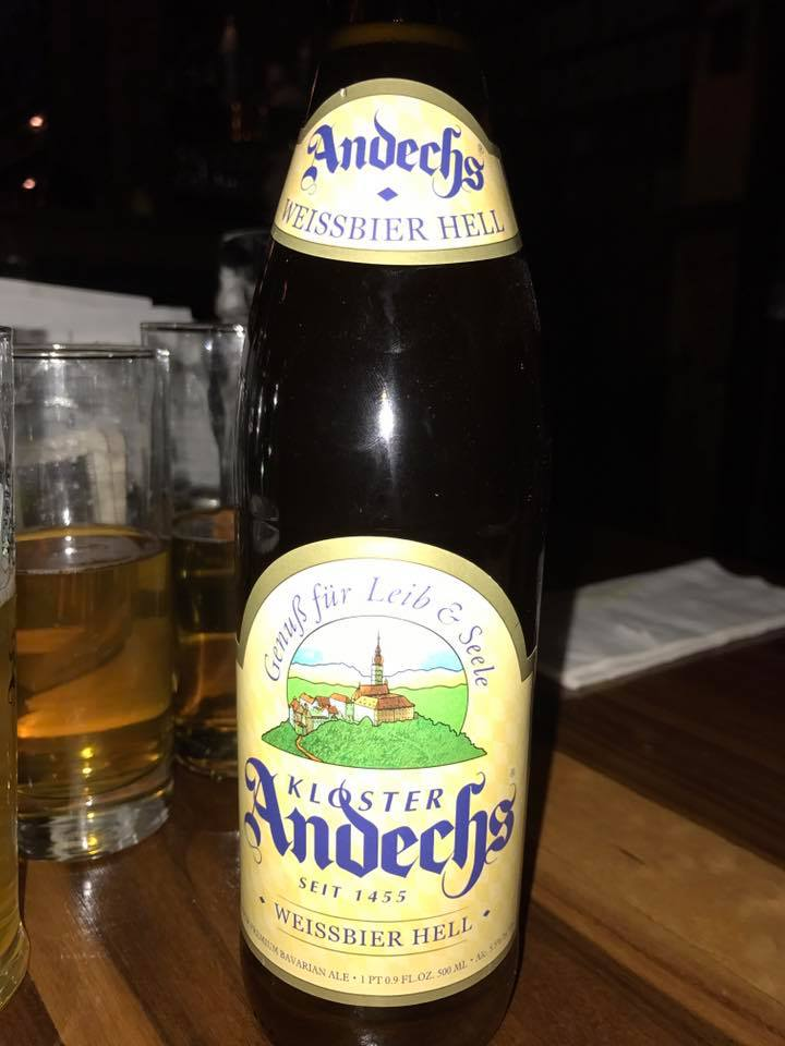 Husband taking me to commemorate my 18th birthday with an Andechs Bie