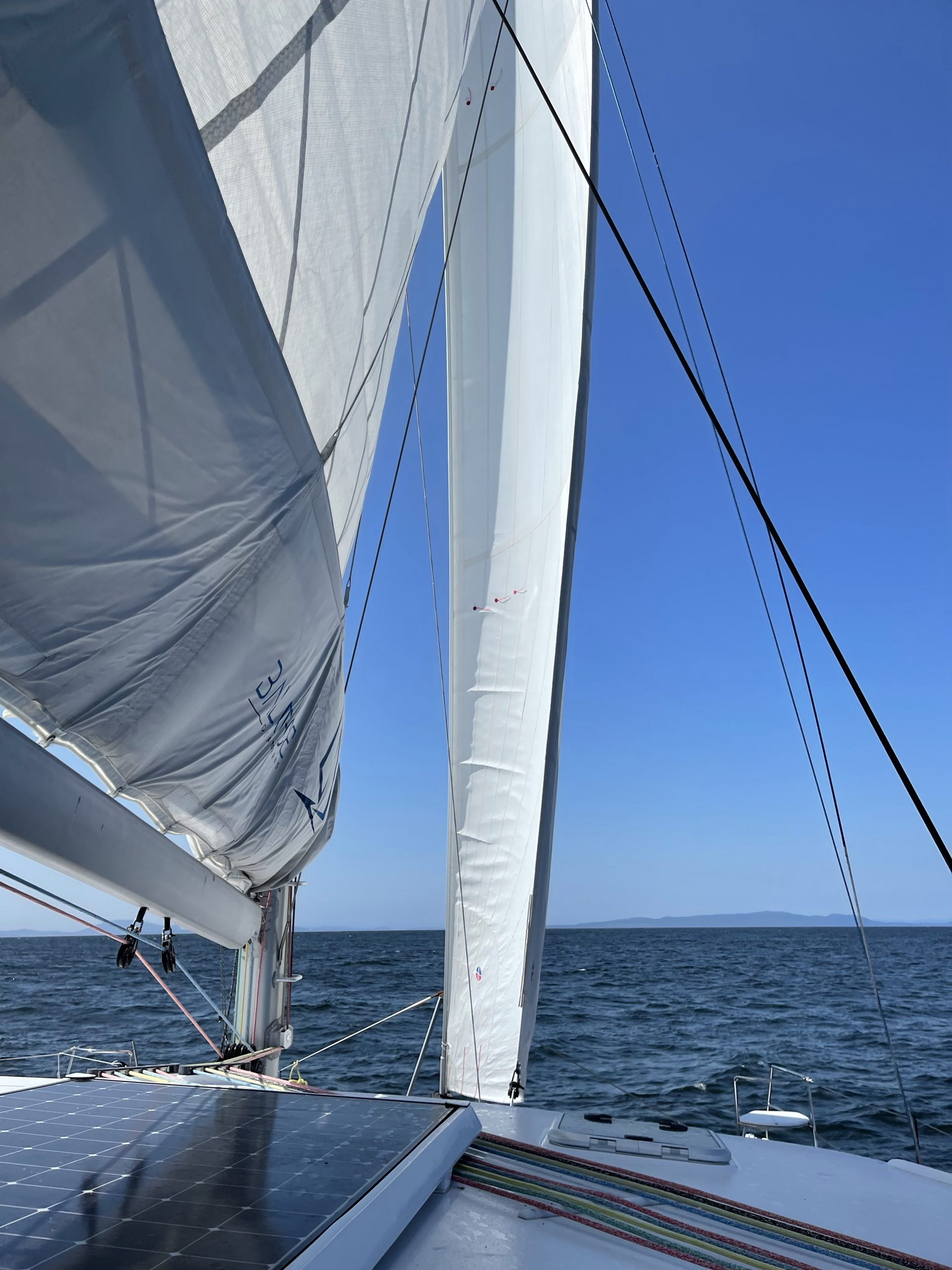 And we're under sail